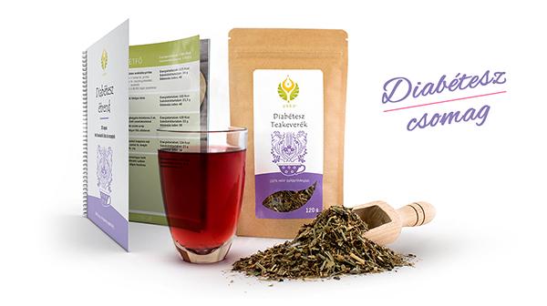 UKKO diabétesz csomag – teakeverék és étrend receptekkel és bevásárló listával együtt, komplex segítség cukorbetegség esetén