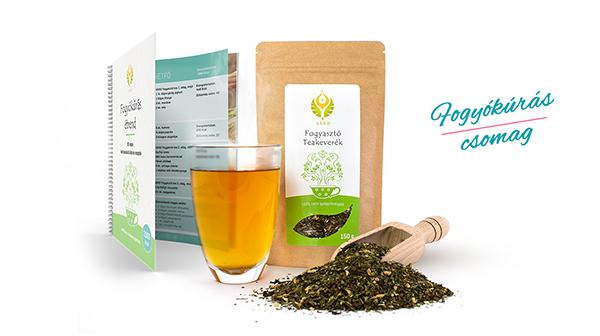 Fogyasztó teakeverék étrenddel, amelybe recepteket és bevásárlólistát is tettünk