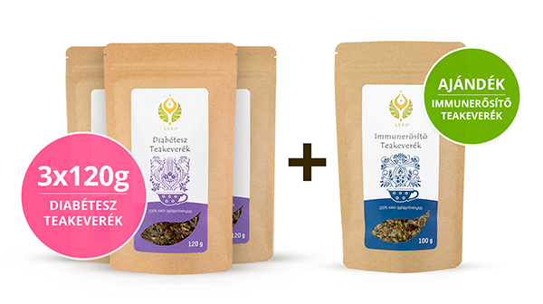 Diabétesz teás Hullámtörő csomag Immunerősítő teával