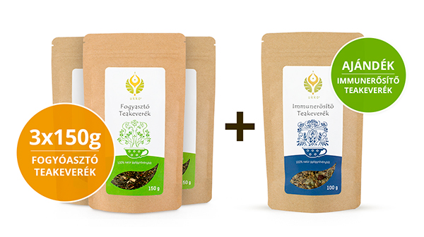 Fogyasztó teás Hullámtörő csomag Immunerősítő teával