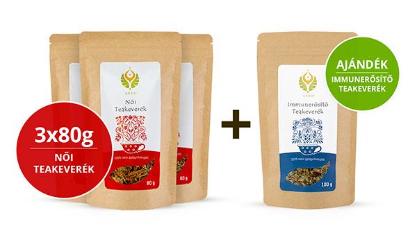 Női teás Hullámtörő csomag Immunerősítő teával
