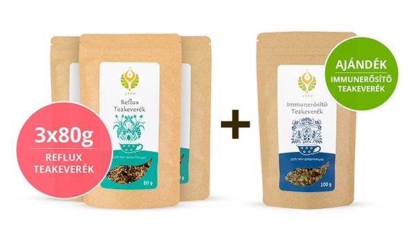 Reflux teás Hullámtörő csomag Immunerősítő teával