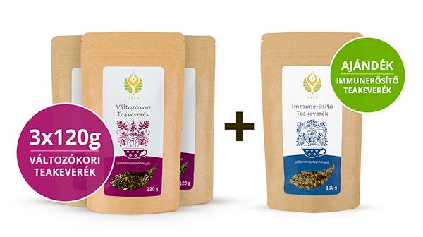 Változókori teás Hullámtörő csomag Immunerősítő teával