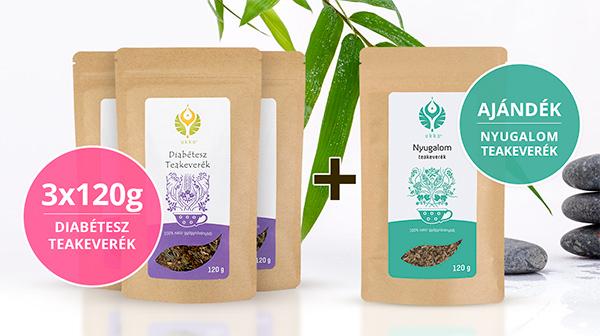 Diabétesz teás Relax csomag Nyugalom teával