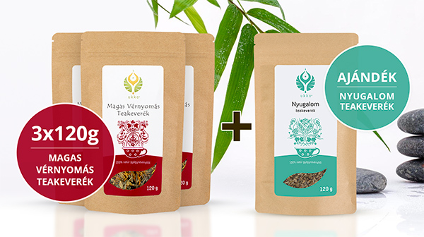 Magas Vérnyomás teás Relax csomag Nyugalom teával