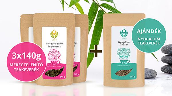 Méregtelenítő teás Relax csomag Nyugalom teával