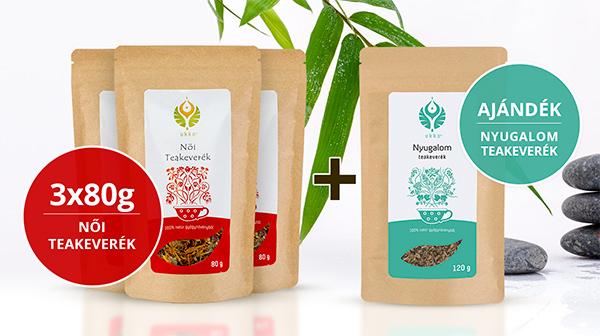 Női teás Relax csomag Nyugalom teával