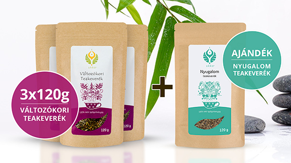 Változókori teás Relax csomag Nyugalom teával
