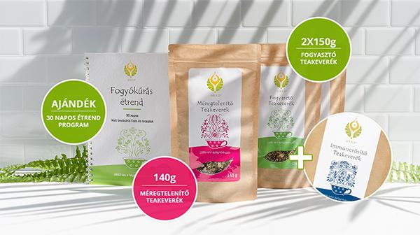 Fogyasztó és Méregtelenítő tea AJÁNDÉK 30 napos Fogyókúrás étrendprogrammal