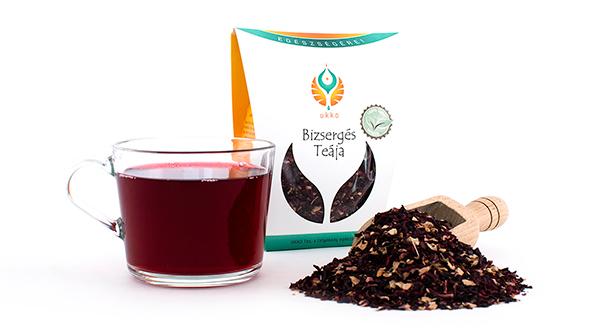 Hangulatjavító tea, a hibiszkusz és a gyömbér biztosítja a jókedvet és a frissességet egész napra