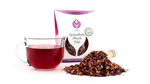 Aroma nélküli tea, hibiszkusz, szárított alma, rózsaszirom, csipkebogyó keveréke, igazán finom teakeverék