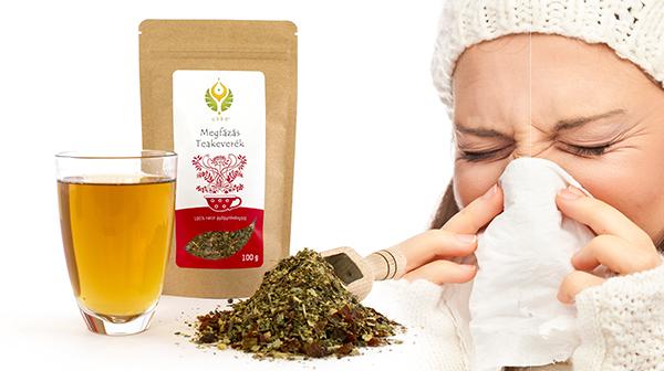 Gógytea megfázásra, gyömbérrel, csipkebogyóval, hársfavirággal a nátha tüneteinek enyhítésére